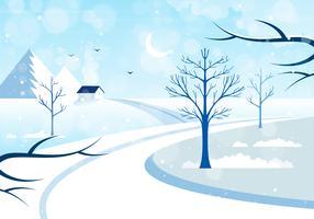Vektor höst landskaps illustration