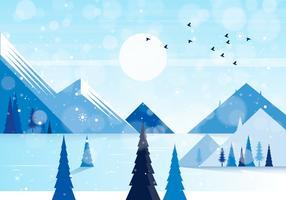 Vektor-Winterlandschaftsabbildung vektor