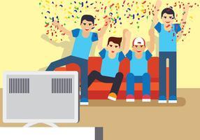 Fußball-Uhr-Party vektor