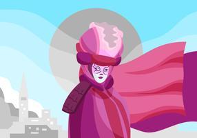 Carnevale Di Venezia Vector Bakgrunds Illustration