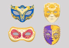Masken-Vektor-Illustration Carnevale Di Venezia