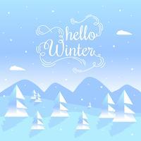 Hallo Winter-Vektorhintergrund vektor