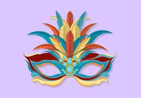 Masken-Vektor-Illustration Carnevale Di Venezia vektor