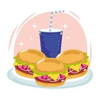 Fastfood-Burger vektor