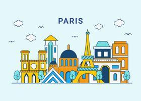 paris city skyline vektor