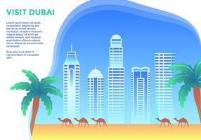 Besuchen Sie Dubai Vector
