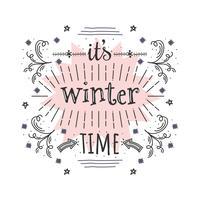 Es ist Winterzeitvektor