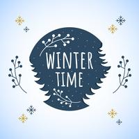Winterzeit-Vektor vektor