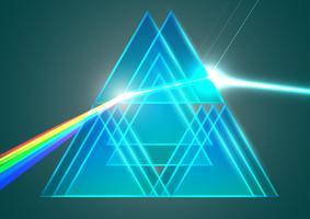 Prismor och brytning vektor