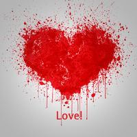 Målat vektor hjärta
