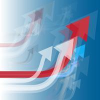 Vektorpfeile steigen