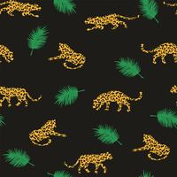 Nahtloses exotisches Muster mit abstrakten Schattenbildern von Leoparden.