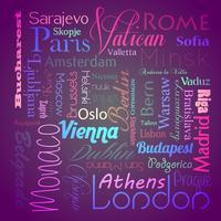 Europeiska huvudstäder eps10 vektor