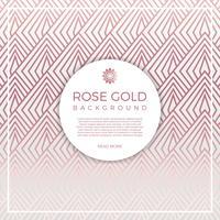 Flacher geometrischer Rose Gold Vector Background