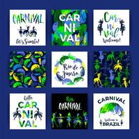 Brasilien Carnival. Ljusa festliga mallar. vektor