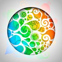 Färgrik abstrakt designmall vektor