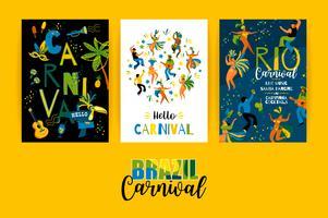 Brasilien Karneval. Vektorvorlagen für Karnevalskonzept und andere Benutzer.