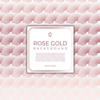 Flacher moderner Kreis Rose Gold Vector Background