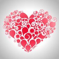 Abstraktes rotes Herz vektor