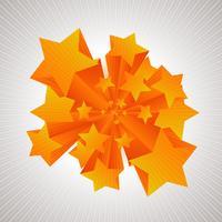 Sterne kommen in 3D vektor
