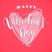 Fröhlichen Valentinstag. Handgezeichnete Schriftzug Design.