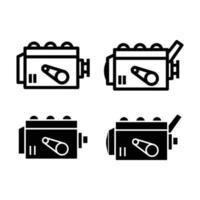 Motor-Icon-Set vektor