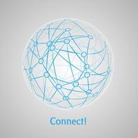 Verbinden Sie Weltzusammenfassungskonzeptkunst vektor
