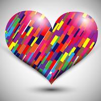 Alla hjärtans dag hjärta vektor illustration