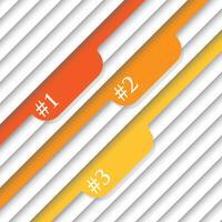 Nummerierte Vorlagen - Vektordesign