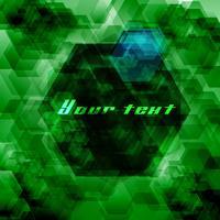 Hexagon abstrakt bakgrund vektor