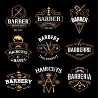 Barber Shop Vector Retro Embleme