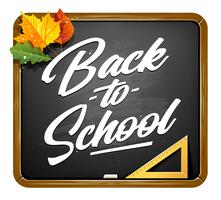 Zurück zum Schulbeschriftungs-Vektor