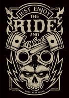 Bara njut av Ride Vector Biker Art