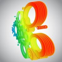 Färgglada cirklar i perspektiv vektor