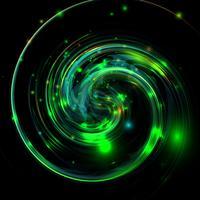 Verdrehter grüner glänzender und bunter Hintergrund, Vektorillustration
