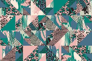 Abstraktes nahtloses Muster mit Tierdruck. vektor