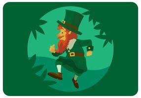 St.Patrick gehender Charakter-Design-Vektor vektor