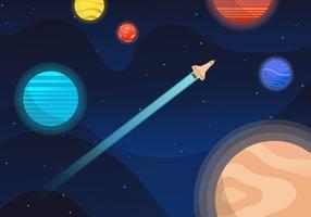Cool Galaxy Bakgrund Vector Illustration