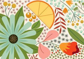 Sommer-Blumenhintergrund vektor