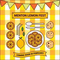 Netter Zitronen-Festival-Vektor Menton Frankreich