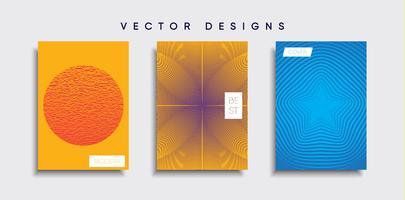Minimale Vector-Cover-Designs. Zukünftige Plakatschablone
