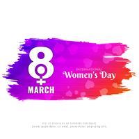 Stilvolle Hintergrundauslegung der abstrakten Frauen Tages vektor