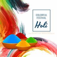 Dekorativer Hintergrund des abstrakten glücklichen religiösen Festivals Holi vektor