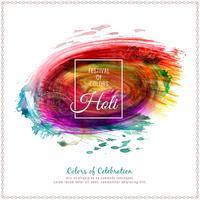 Abstrakt Glad Holi färgstark festivalen firar bakgrunds illustration