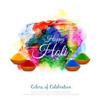 Abstrakt Glad Holi färgglad festival bakgrundsdesign