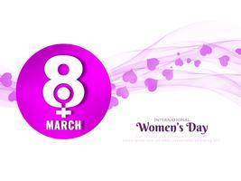 Wellenförmige Hintergrundauslegung der abstrakten Frauen Tages vektor