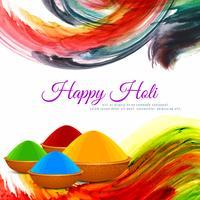 Moderner Hintergrund des abstrakten glücklichen religiösen Festivals Holi vektor