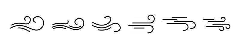 Wind weht einfache Icons Sammlung vektor