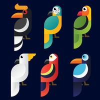 Fågel Clipart Vector Pack
