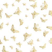 Seamless mönster av fjäril på vita bakgrunder